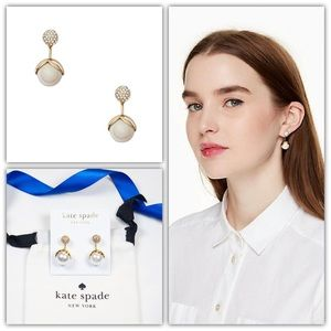 Kate Spade Pretty Pearly Crystal Ear Jackets